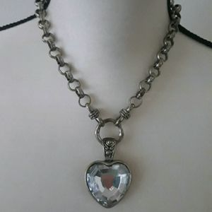 Vintage Chunky Heart Necklace